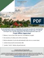 Front Office Supervisor (1)