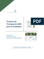 2.1 Proyecto Presupuesto 2020 Para Ciudadano