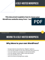 Host your own WordPress blog - Move your site from WordPress.com to your own self-hosted WordPress blog.
