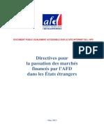 directives AFD Passation des marchés 2013