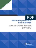 directives passation des marchés BEI 2018