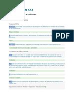 EVALUACIÓN AA1 ISO 9001 - Evaluacion y Mejora de Un Sistema de Gestion de La Calidad
