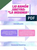 "JULIO RAMÓN RIBEYRO ""LA INSIGNIA"""