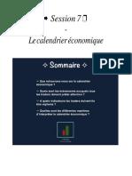 Session 07 - Le calendrier économique.pdf