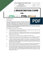 New Vendor Registration Form PTCL-Ufone (PROC-F-01-01) Sep 20