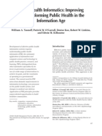 Public Health Informatics Improving and Transforming Public Health in the Information Age