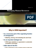 8. Managing Human Resources