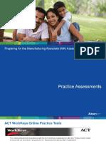 Preparing for Manufacturing Associate (MA) Assessment