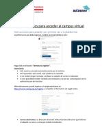 Instrucciones para acceder por primera vez a la plataforma