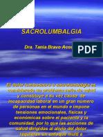 Sacrolumbalgia. Tania Bravo
