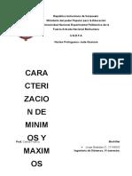 minimos y maximos optimizacion no lineal