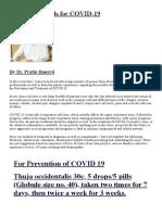 covid19 banerji protocol