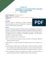 Programme Transmission des données LEEA2- S3