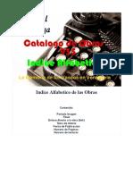 Editorial Xamezaga  - Catalogo Obras (950) - Indice Alfabetico