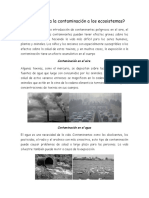 Cómo afecta la contaminación a los ecosistemas