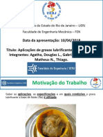 Trabalho de Lubrificação - Aplicações de graxas lubrificantes a base de Na - Grupo V
