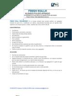 Especificaciones Técnicas Finishwall Weldbond
