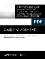 Protocol for Case Management of Child Victims of