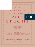 Rachel Speght - The Polemics and Poems of Rachel Speght (Women Writers in English, 1350-1850) (1996)