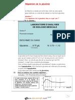 Cours - SVT - régulation de la glycémie (1ere séance TP) - 3ème Math (2018-2019) Mr Salhi Mohamed