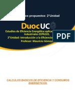 EJERCICIOS PROPUESTOS ESTUDIOS DE EFICIENCIA ENERGETICA EEP6101 2°UNIDAD