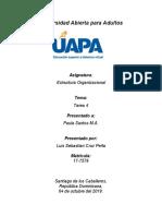 tarea 4 Estructura Organizacional