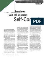 Self-control article