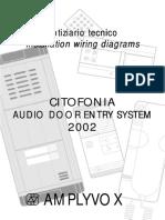 notiziario tecnico installation wiring diagrams CITOFONIA AUDIO DOOR ENTRY SYSTEM 2002 AMPLYVOX