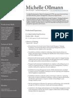 michelle ollmann - director of training - resume 2020