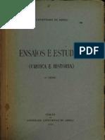 ENSAIOS E ESTUDOS (CRITICA E HISTORIA)