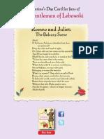 Juliet's Balcony Scene