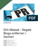 Dirk Massat - Illegale Blogs Entfernen Löschen