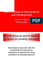 Best Practices in MicroFinance and Development - Carmen Velasco