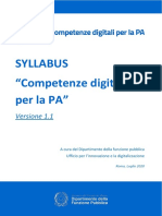 2020 Syllabus Competenze Digitali PA