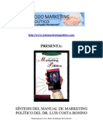 Síntesis del Manual de Marketing Político del Dr Luis Costa Bonino