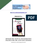 Síntesis del Manual de Marketing Político del Dr Luis Costa Bonino