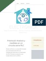 Práctica3  Analisis y medidas en un circuito serie