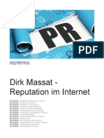 Dirk Massat - Reputation Im Internet