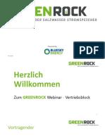 GREENROCK Webinar Vertriebsblock
