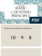 BASIC COUNTING PRINCIPLE