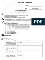 Characteristics of Myths (Cupid and Psyche)