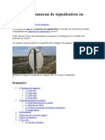 Support de panneau de signalisation en France