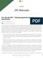 Art. 190 do CPC - Cláusula geral de negociação processual - Migalhas