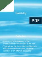Reliability New