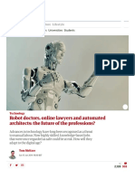 Robot doctors, online lawyers and automated architects_ the future of the professions_ _ Technology _ The Guardian