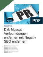 Dirk Massat - Verleumdungen mit Negativ SEO entfernen