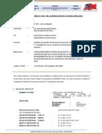 Informe Tecnico N°003 del Espe. Costos y Presupuestos - Justifiacación de atrazo