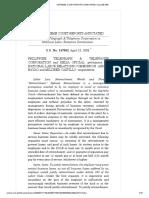 13) Philippine Telegraph & Telephone Corporation vs. National Labor Relations Commission