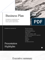 Black and White Simple Business Plan Presentation