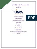 TAREA 3 DE PLANIFICACION Y GESTION AULICA